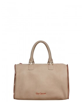 Bauletto zip beige
